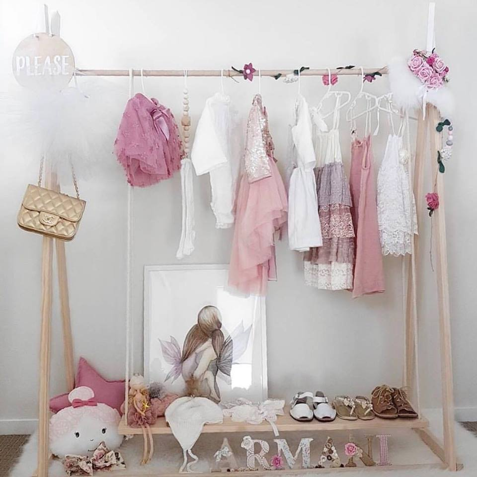 Kids Wooden Clothes Rack 150cm High